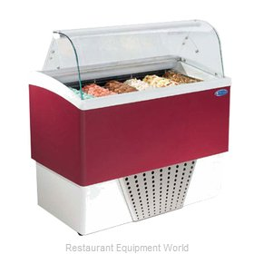 Stoelting BRIO 6-302 Display Case Gelato Ice Cream Dipping Cabinet