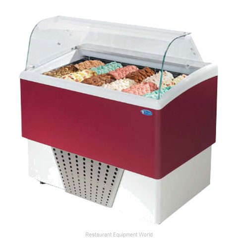 Stoelting BRIO 6+6-37 Display Case Gelato Ice Cream Dipping Cabinet