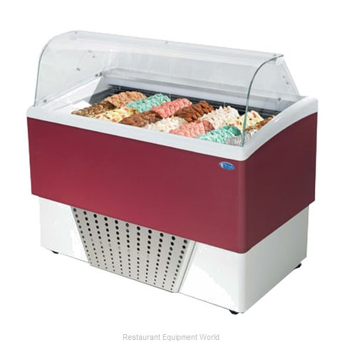 Stoelting BRIO 7+7-302 Display Case Gelato Ice Cream Dipping Cabinet (Magnified)