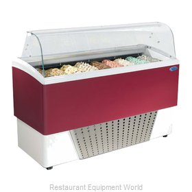 Stoelting BRIO 9-302 Display Case Gelato Ice Cream Dipping Cabinet