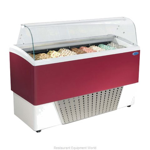 Stoelting BRIO 9-37 Display Case Gelato Ice Cream Dipping Cabinet (Magnified)
