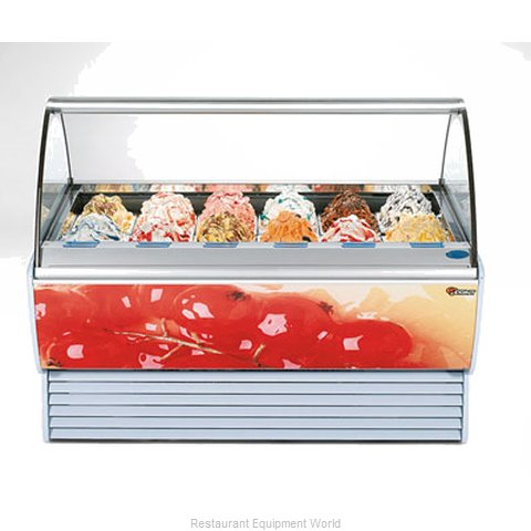 Stoelting SPRINT 18 WITH O302 Display Case Gelato Ice Cream Dipping Cabinet