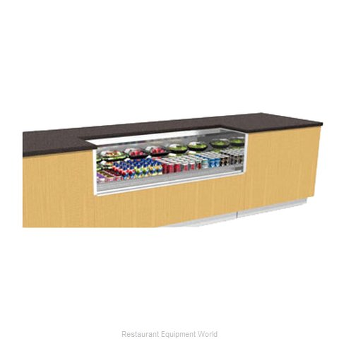 Structural Concepts CO43R-UC Refrigerated Self-Service Under Counter Height Case
