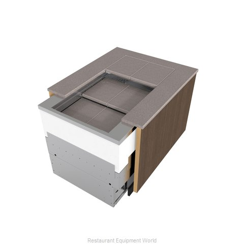 Structural Concepts NE7200R5 Display Case, Refrigerated, Slide In Counter