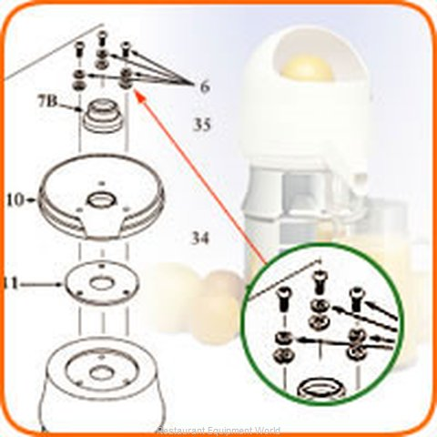 Sunkist 06 Juicer, Parts & Accessories (Magnified)