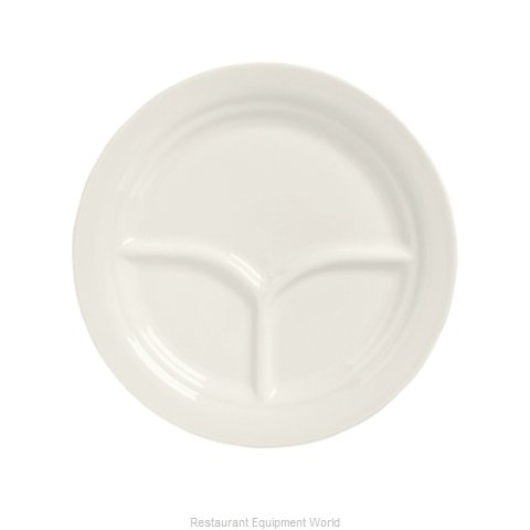 Syracuse China 950093763 China Compartment Plate Platter
