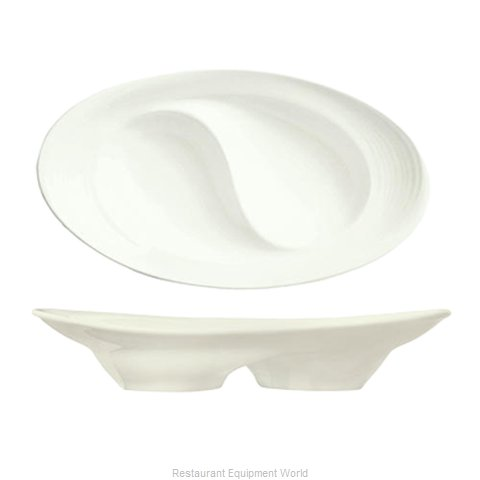 Syracuse China 987659358 China Compartment Dish Bowl