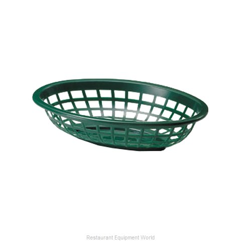 Tablecraft 1071FG Side Order Food Basket Oval Forest Green Sold by Dozen