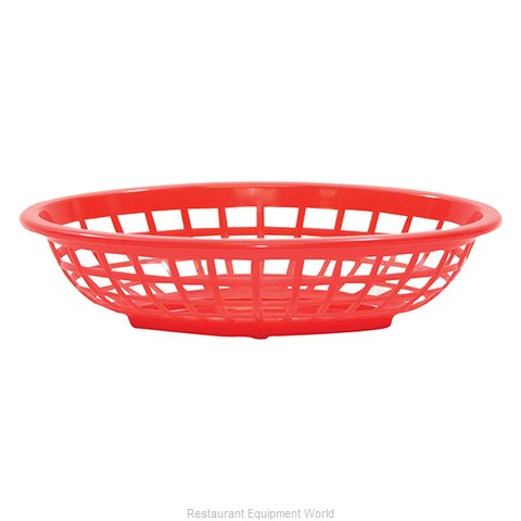 Tablecraft 1071R Side Order Food Basket Oval Red Sold by Dozen (Magnified)
