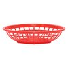 Tablecraft 1071R Side Order Food Basket Oval Red Sold by Dozen