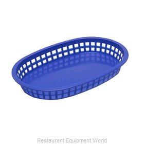 Tablecraft 1076BL Chicago Platter Basket Oval Royal  Blue 12/Pack