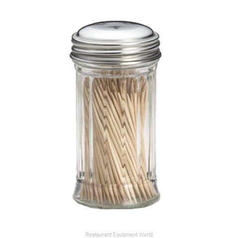 Tablecraft 653 toothpick holder dispenser glass - Stainless steel toothpick dispenser ...
