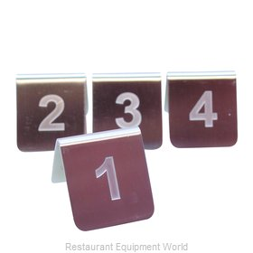 Tablecraft PT125 Tabletop Sign, Tent / Number