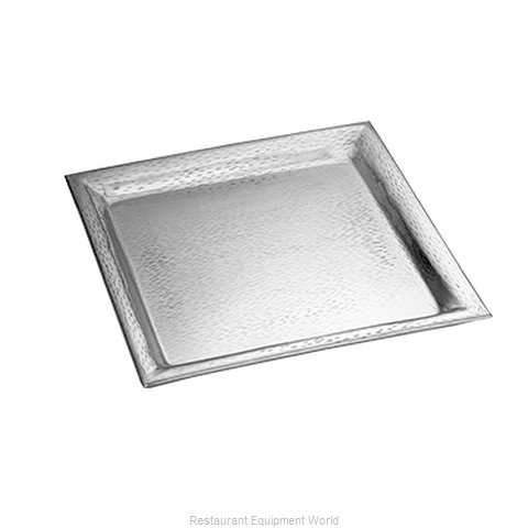 Tablecraft R2020 Platter, Stainless Steel (Magnified)