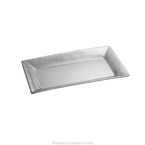 Tablecraft R2212 Platter Stainless Steel (Magnified)