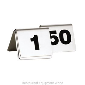 Tablecraft T150 Tabletop Sign, Tent / Number