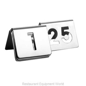 Tablecraft TC125 Tabletop Sign, Tent / Number