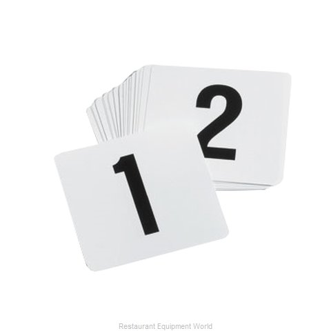 Tablecraft TN100 Number Card Set