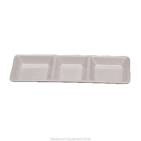 Thunder Group PS5103W Plate/Platter, Compartment, Plastic