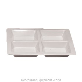 Thunder Group PS5104W Plate/Platter, Compartment, Plastic