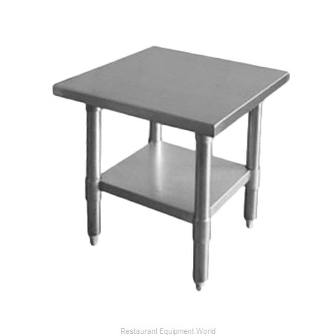 Thunder Group SLWT42412F Work Table 12 - 18 Long Stainless steel Top