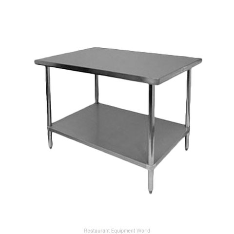 Thunder Group SLWT42448F Work Table 48 Long Stainless steel Top