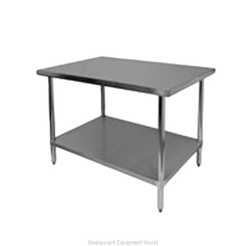 Thunder Group SLWT42472F Work Table 72 Long Stainless steel Top