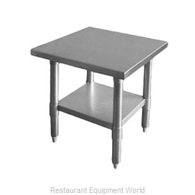 Thunder Group SLWT43024F Work Table 24 Long Stainless steel Top