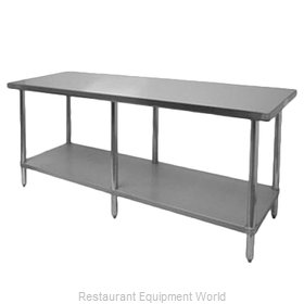 Thunder Group SLWT43084F Work Table 84 Long Stainless steel Top