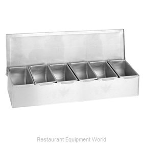 Thunder Group SSCD006 Bar Condiment Server, Countertop