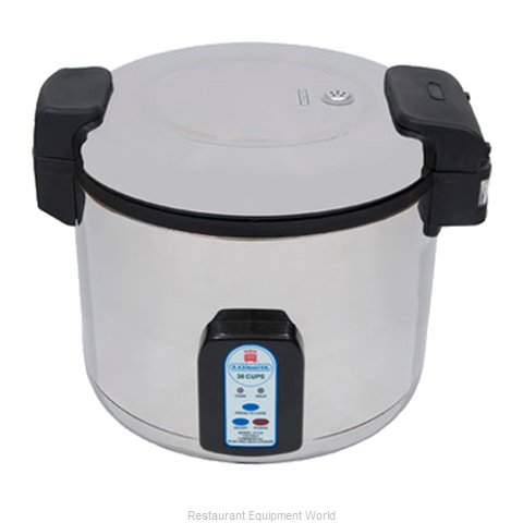 Town 57131 30 Cup Electric Rice Cooker - Stainless Steel - 240 volt