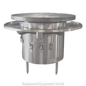 Town MBR-42 Round Griddle / Fry Top, Gas