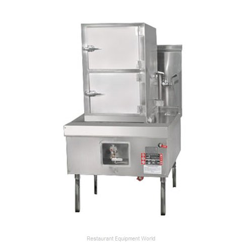 Town YF-STMR-SS Steamer Range and Cabinet (Magnified)