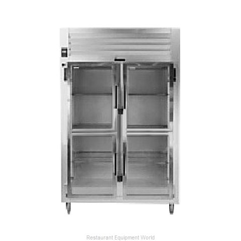 Traulsen AHT232WPUT-HHG Pass-Thru Display Refrigerator 2 sections (Magnified)
