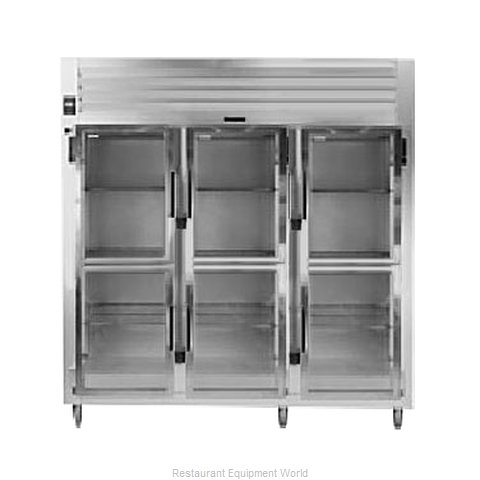Traulsen AHT332WPUT-HHG Pass-Thru Display Refrigerator 3 sections (Magnified)