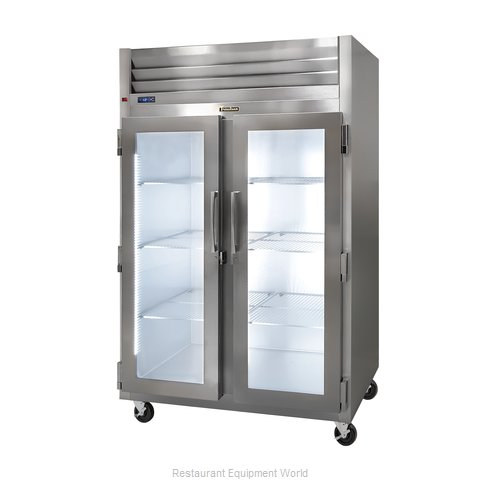 Traulsen G21001R Reach-in Display Refrigerator 2 sections