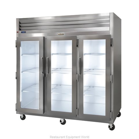 Traulsen G32010R Reach-in Display Refrigerator 3 sections