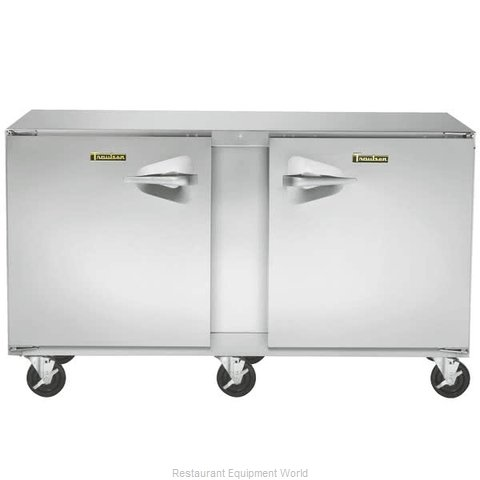 Traulsen UHT60-LR Reach-in Undercounter Refrigerator 2 section