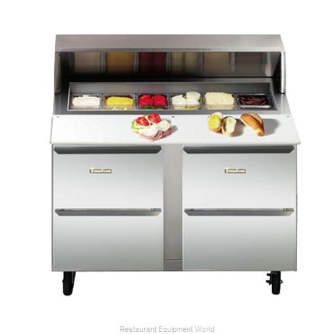 Traulsen UPD2706D0-0300-SB Refrigerated Counter, Sandwich / Salad Unit