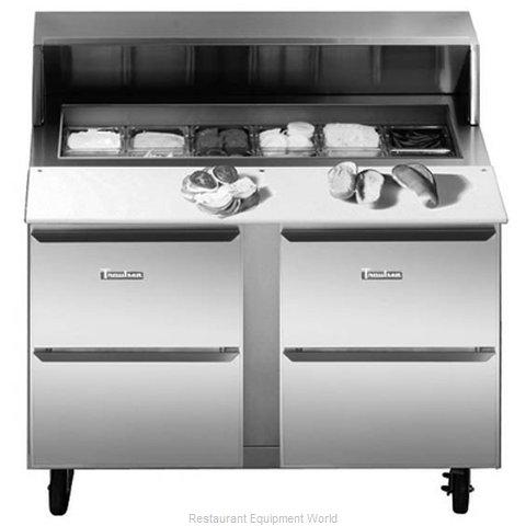 Traulsen UPT7212-DD-SB Refrigerated Counter, Sandwich / Salad Top