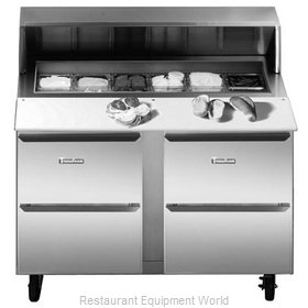 Traulsen UPT7212-DD-SB Refrigerated Counter, Sandwich / Salad Top