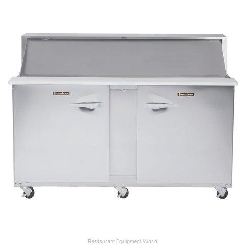 Traulsen UPT7230-RR-SB Refrigerated Counter, Sandwich / Salad Top