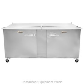 Traulsen UST7218-RR-SB Refrigerated Counter, Sandwich / Salad Top