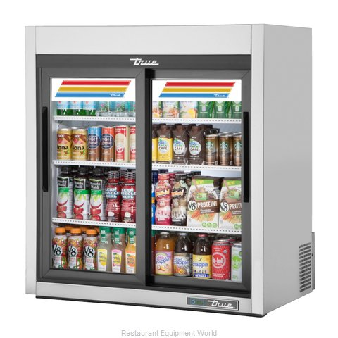 True GDM-09-SQ-S-HC-LD Display Case, Refrigerated, Countertop