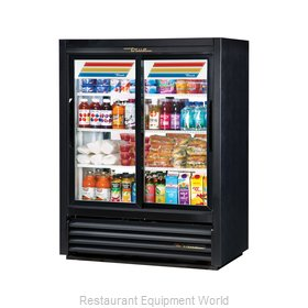 True GDM-33CPT-54-LD Pass-Thru Display Refrigerator, 2 sections