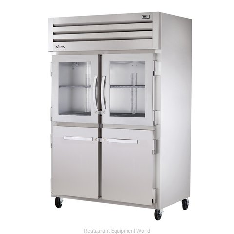 True STR2R-2HG/2HS Reach-in Refrigerator 2 sections