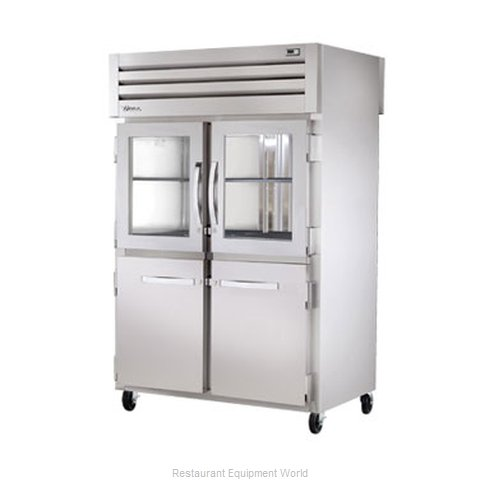 True STR2RPT-2HG2HS2S Pass-Thru Refrigerator 2 sections