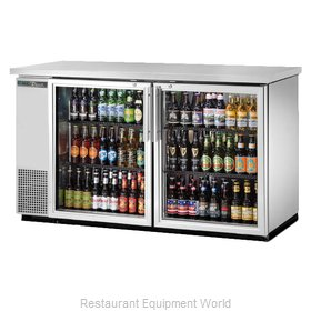 True TBB-24-60G-S-HC-LD Back Bar Cabinet, Refrigerated