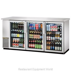 True TBB-24-72G-S-LD Backbar Cabinet Refrigerated