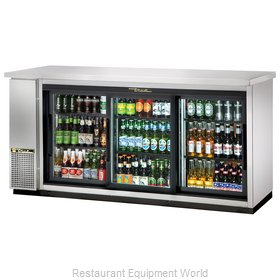 True TBB-24-72G-SD-S-LD Back Bar Cabinet, Refrigerated
